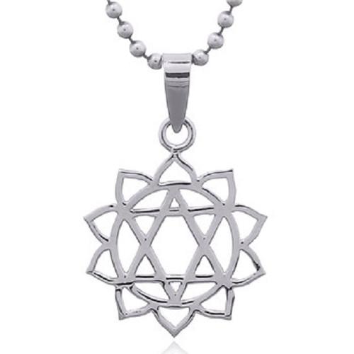 Silver Pendant Heart Chakra
