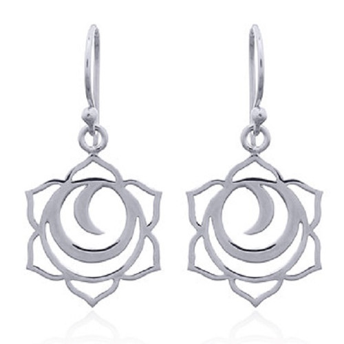 Silver Hook Earrings Sacral Chakra