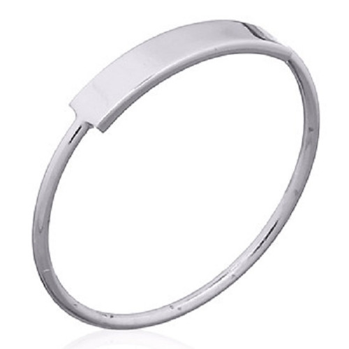 Stack Ring 925 Sterling Silver Curley Rectangle