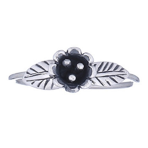 Ring 925 Sterling Silver Cupped Flower