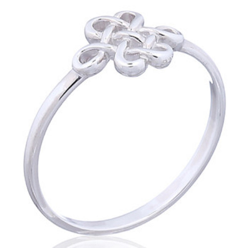 Ring 925 Sterling Silver Celtic Shield Knot