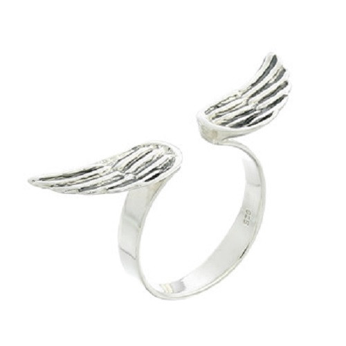 Stack Ring Sterling Silver Angel Wings