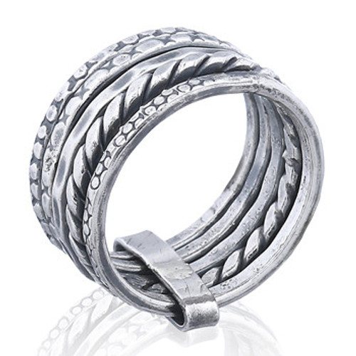 Handmade Ring Sterling Silver Stack Set Of Five