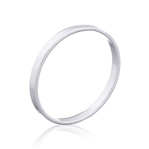 Sterling Silver Band Ring- 2mm wide- Flat Style