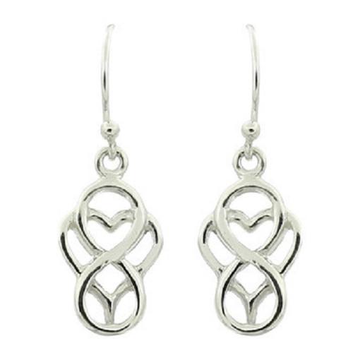 Hook Earrings Silver Everlasting Love Symbol