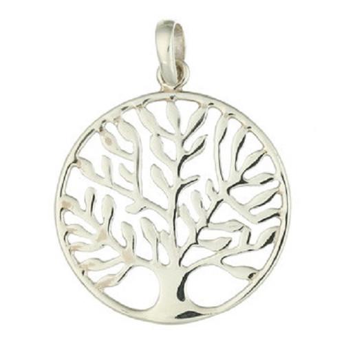 Silver Pendant Tree Of Life Leafy Design
