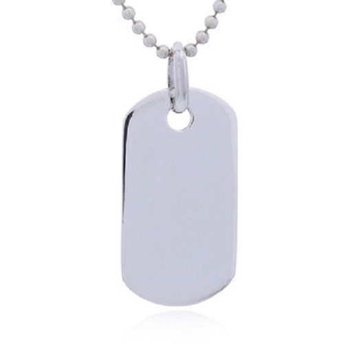 Silver Pendant Dog Tag