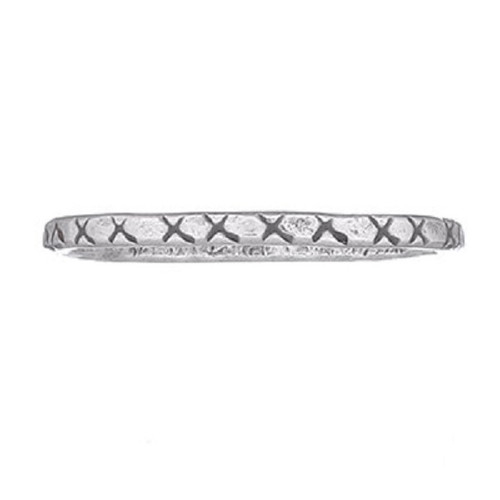 Stack Ring Sterling Silver Tribal  X