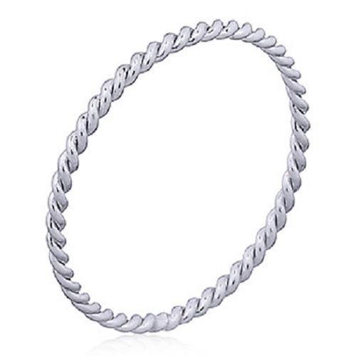 Stack Ring Sterling Silver Twisted Rope