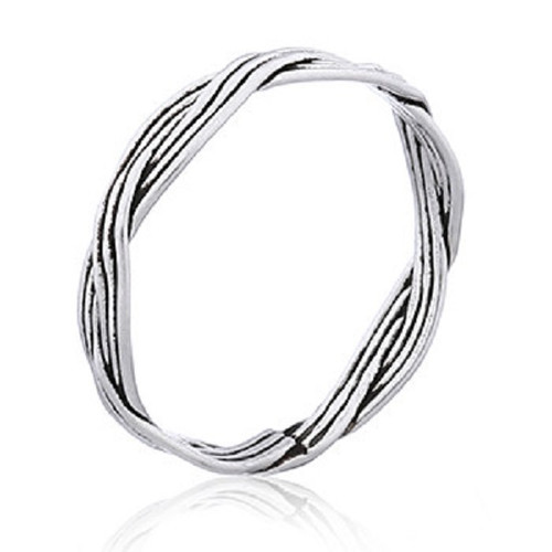 Stack Ring Sterling Silver Braided