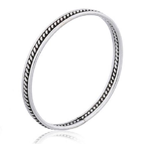 Midi Knuckle Ring Sterling Silver Braided