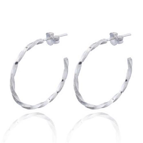 Stud Earrings Half Hoop Twisted Design