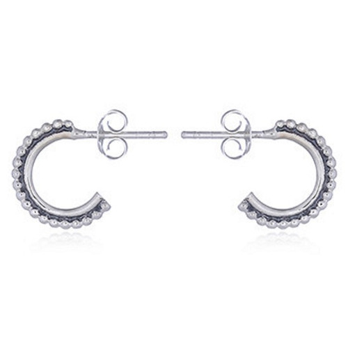 Stud Earrings Open Arch Dotted Design