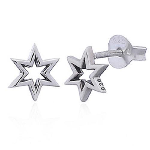 Stud Earrings Dainty Geometric Star