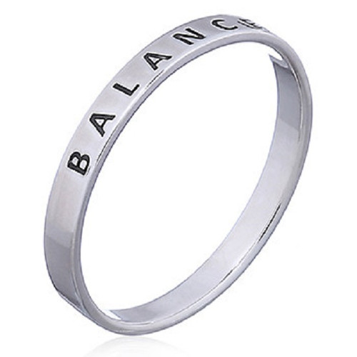 Sterling Silver Band Ring  BALANCE