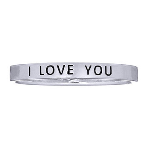 Sterling Silver Band Ring  I LOVE YOU