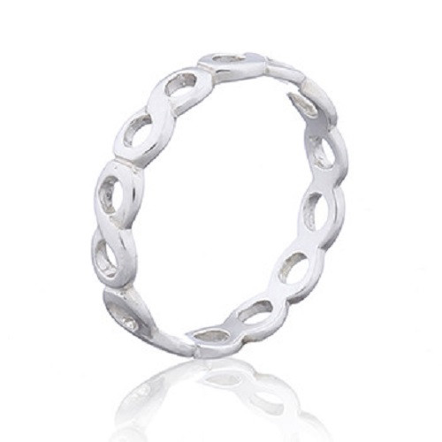 Infinity Symbol 925 Silver Band Ring