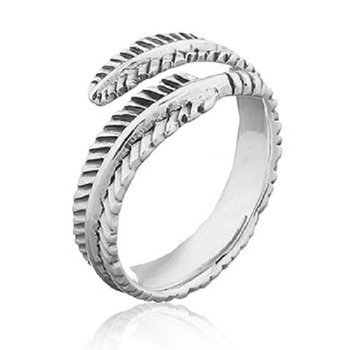 925 Silver Ring Feather Arrow Tribal Design