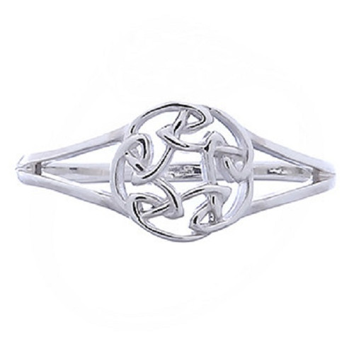 Silver Ring Celtic Round Knot Design