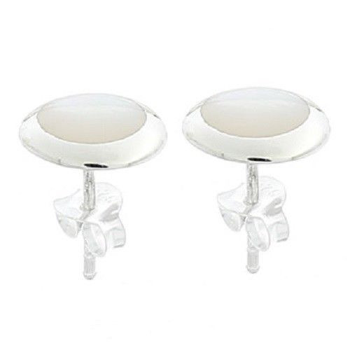 Mother of Pearl Sterling silver stud earrings