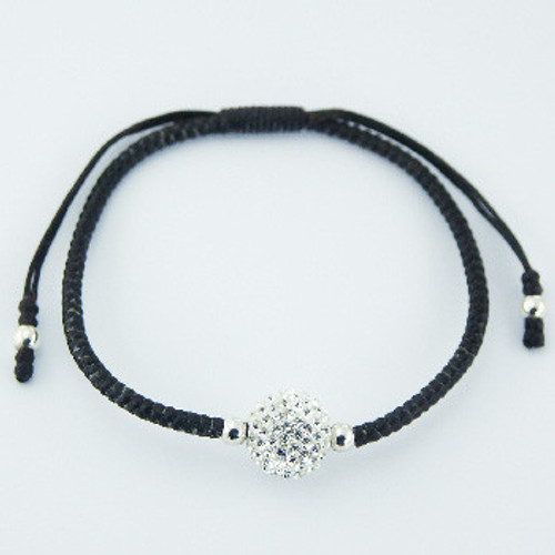 Handcrafted Bracelet  with 12mm Czech Crystal Ball