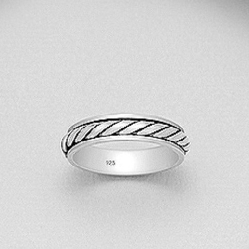 Men's Spin Band Ring 925 Sterling Silver 5mm wide Size 11.5us Highly Polished
