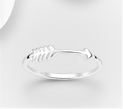 Arrow Band Ring - 925 Sterling Silver