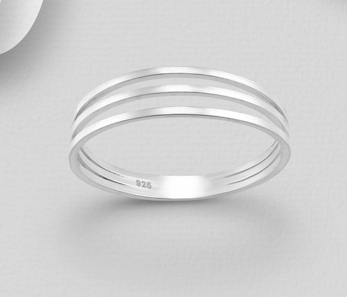 Midi Knuckle Ring 925 Sterling Silver Triple Layered design Sizes 4us 5us