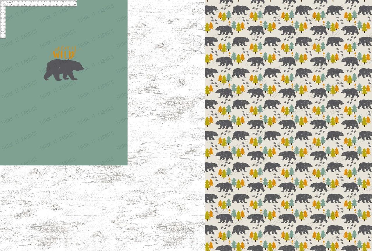 Preorder Stay Wild Bear 1 Yd Rapport Think It Fabrics