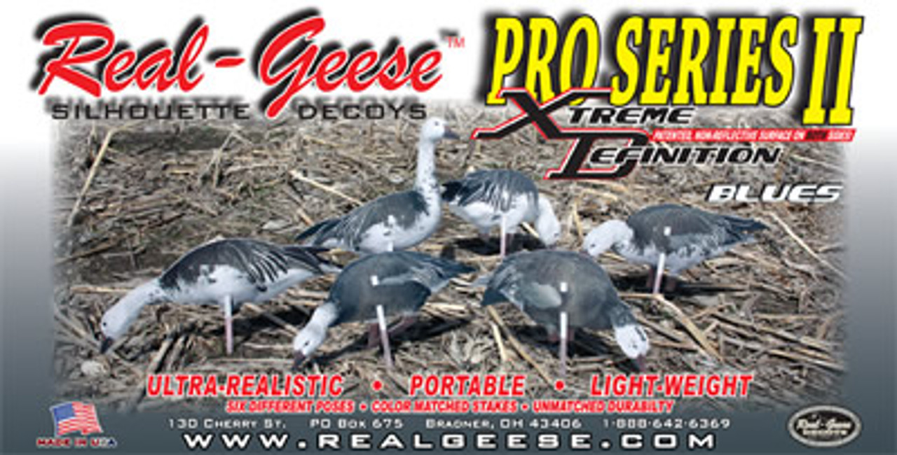Real-Geese Pro Series II Blue Goose Silhouette