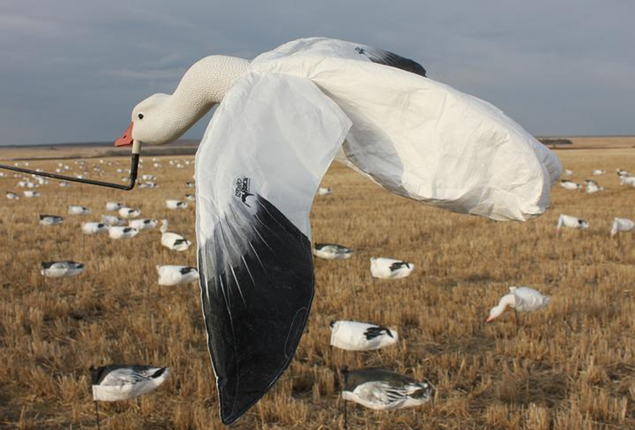 White Rock Deck Boss Flying Snow Goose Decoy