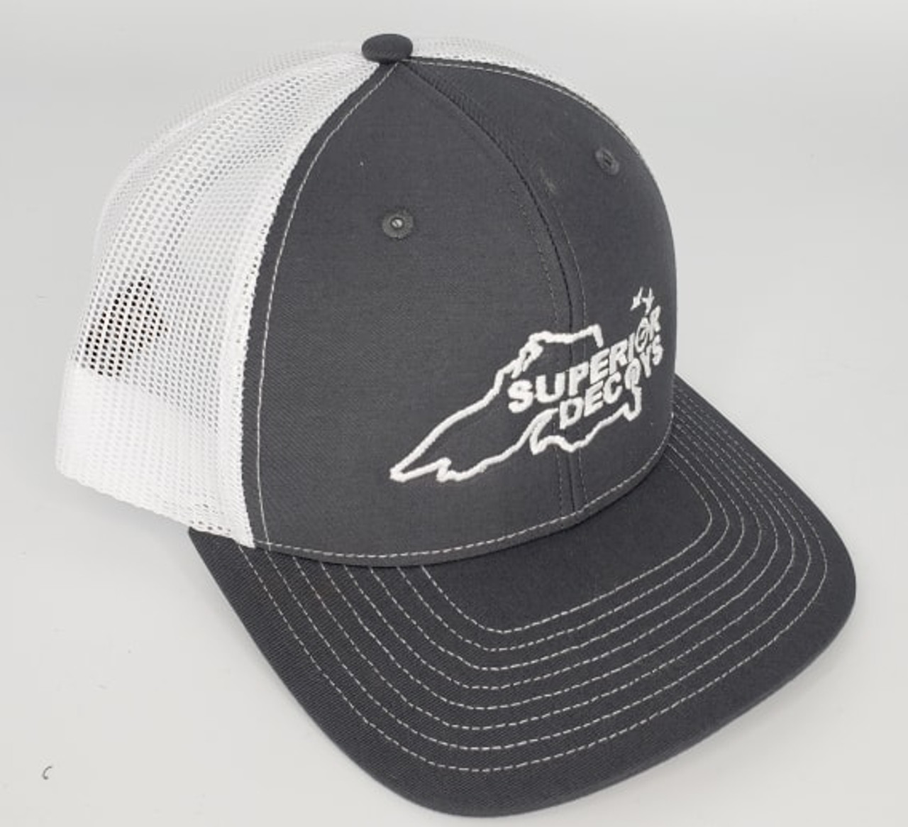 Superior Decoys Charcoal/White Snapback