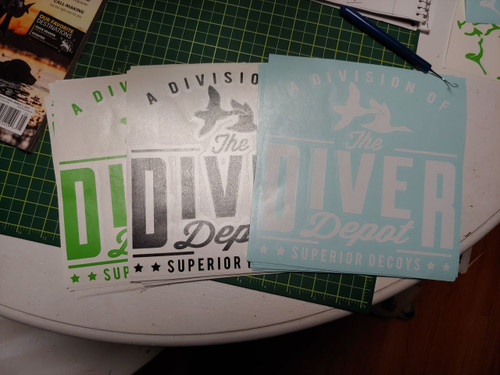 """The Diver Depot 8"""" Decal"""