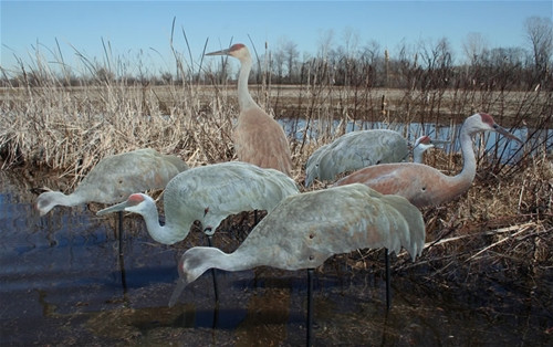 Real-Geese Sandhill Crane Silhouette Decoys