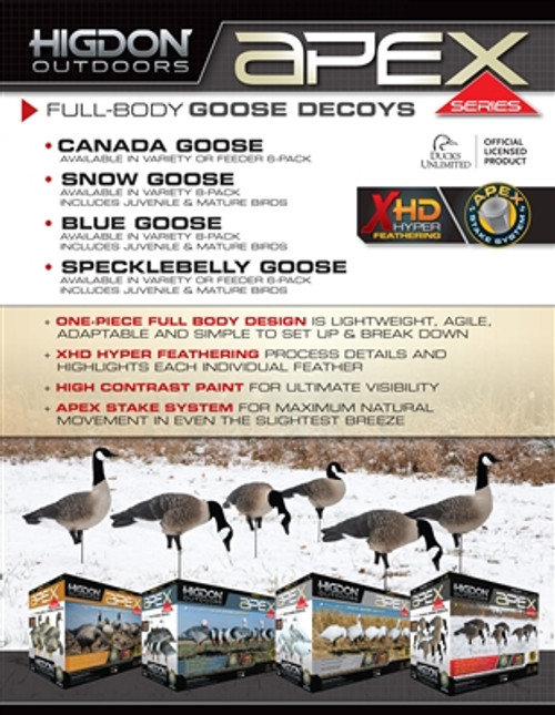 Higdon APEX Full Size Canada Goose Full Body Feeder Pack