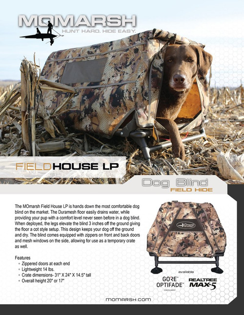 MOmarsh Field House LP Dog Blind - Optifade