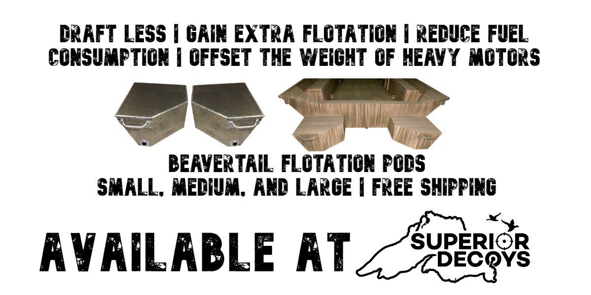 Beavertail Flotation Pods - Free Shipping