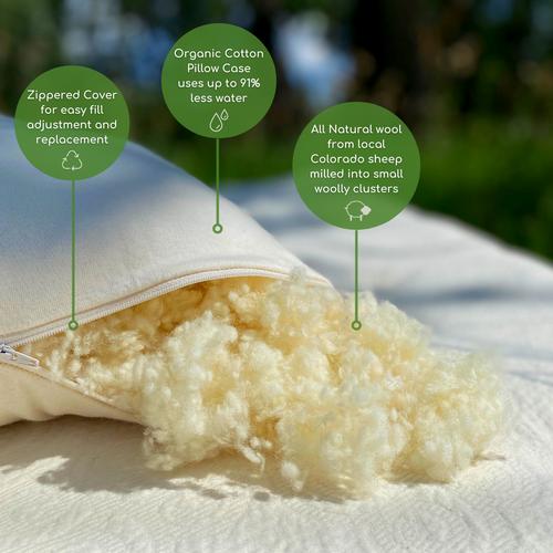 Natural Woolly Bolas Pillow