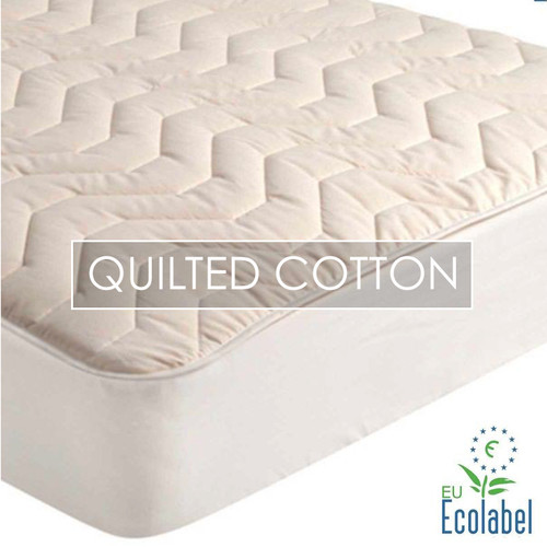 Natural Cotton Quilted Mattress Pad