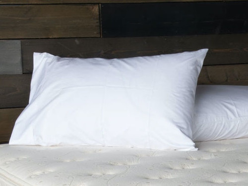 White Sateen Organic Cotton Pillow Case Set
