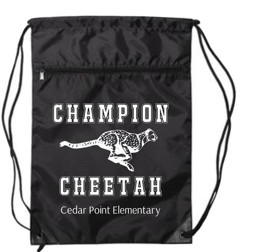 Black drawstring Cedar Point Bag