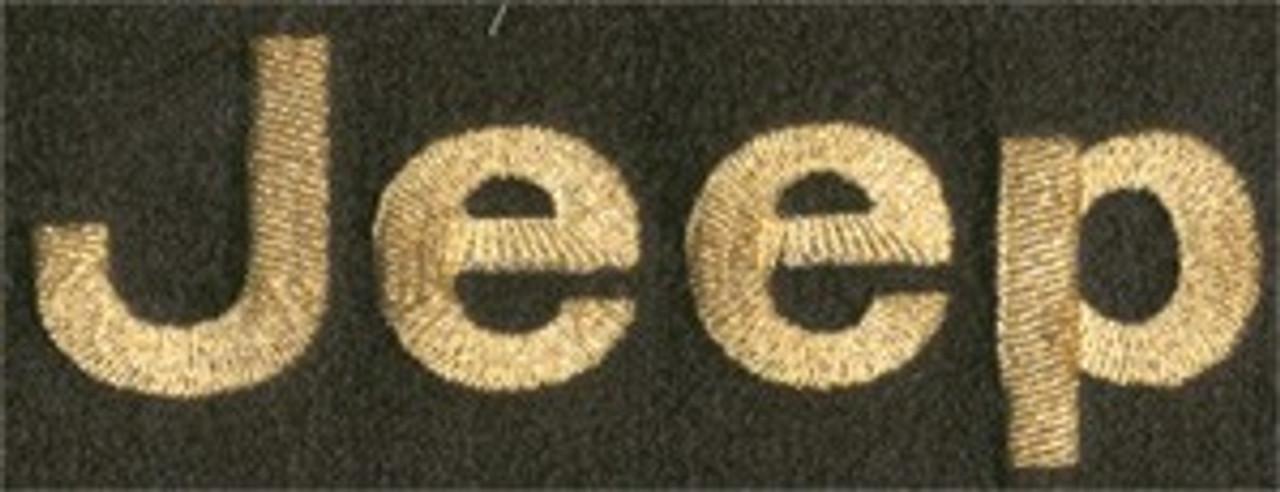 Floor Mat Set 4pc Carpeted Mats W/ A JEEP Logo 1973-1991