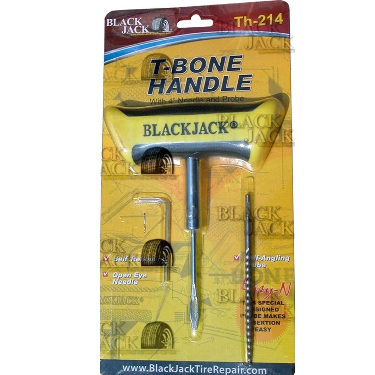 "Blackjack Brand T-Bone Plugging Tool W/ Spiral Probe & 4"" Open Eye Needle"