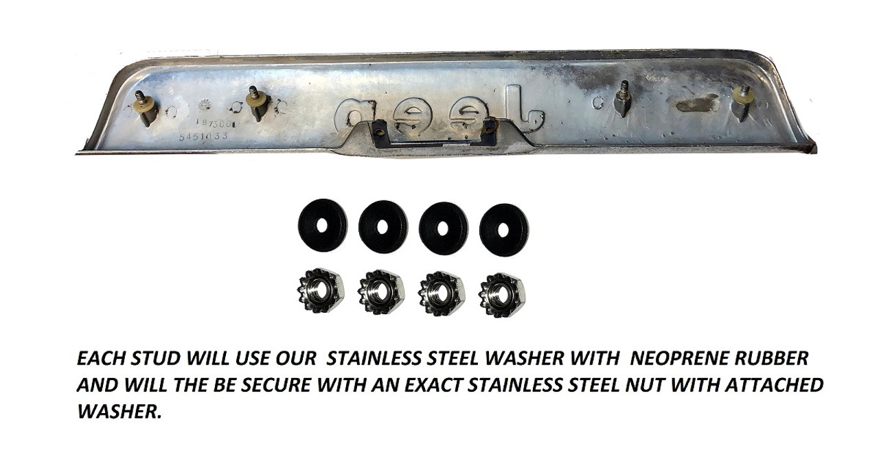 Rear Tailgate Nameplate Stainless Steel Mounting Hardware GW 1974-1991