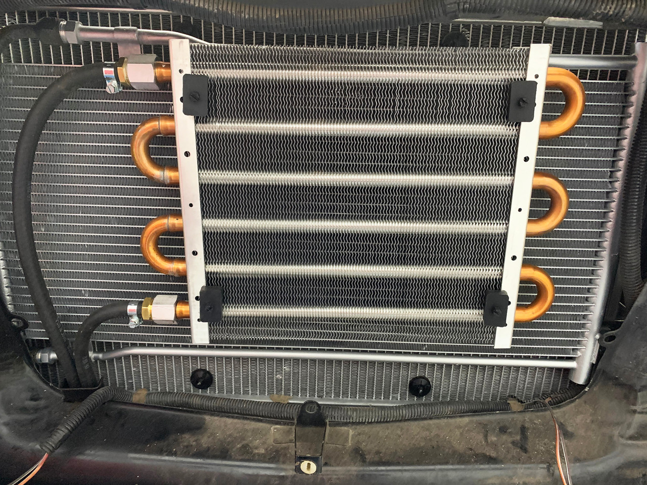 TRANS COOLER ON ACTUAL GRAND WAGONEER INSTALLED