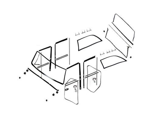 Master Weatherstrip Kit 4 Door Full Size Jeep 1963-1991