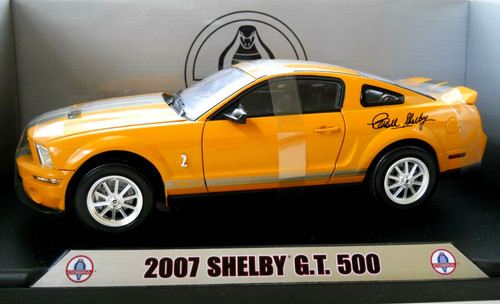 2007 ORANGE SHELBY DIE CAST TOY