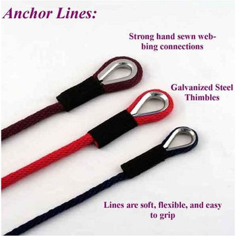"""Soft Lines 3/8"""" Anchor Lines"""
