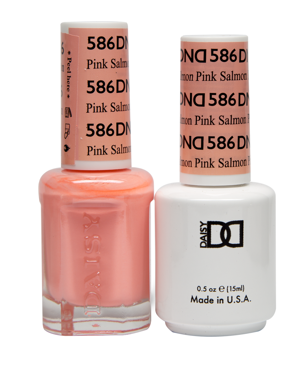 Dnd Soak Off Gel Polish Duo Diva Collection Pink Salmon 586