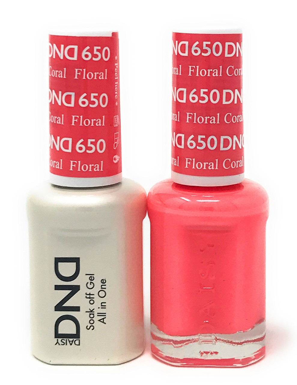 DND SOAK OFF GEL POLISH DUO DIVA COLLECTION | FLORAL CORAL, 650 ...